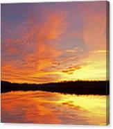 Dawn Jackson Hole Lake Canvas Print