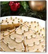 Decorated Cookies In Festive Setting Canvas Print