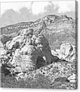Desert Hikers Canvas Print