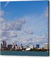 Detroit Michigan Skyline Canvas Print