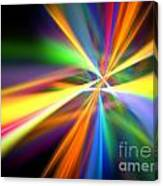 Digital Lightshow Canvas Print