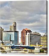 Downtown Toledo Riverfront Canvas Print
