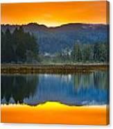 Dry Lagoon Dawn Canvas Print