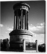 Dugald Stewart Monument Calton Hill Edinburgh Scotland Uk United Kingdom Canvas Print