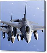 Dutch F-16ams During A Combat Air Canvas Print
