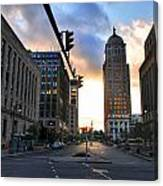 Early Morning Court Street Canvas Print