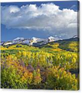 East Beckwith Mountain Flanked By Fall Canvas Print