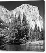 El Capitan And Merced River Canvas Print