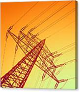 Electricity Power Lines Canvas Print