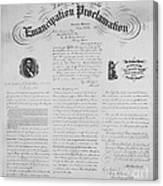 Emancipation Proclamation Canvas Print