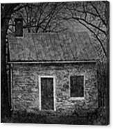 Enchanted Moonlight Cottage Canvas Print