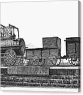 English Locomotive, 1825 Canvas Print