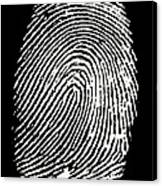 Enlarged Fingerprint Canvas Print
