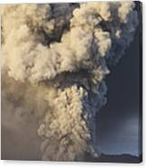 Eruption Of Ash Cloud From Mount Bromo Canvas Print