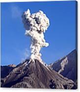 Eruption Of Ash Cloud From Santiaguito Canvas Print