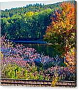 Fall By The River 4 Canvas Print