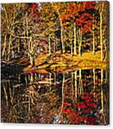 Fall Forest Reflections Canvas Print