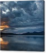 Fall Sunset Over Lake Pend Oreille Canvas Print