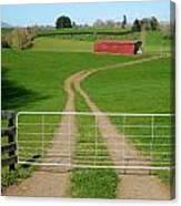 Farming Scene Canvas Print