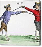Fencing, 18th Century Canvas Print