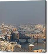 Firenze Under The Snow Canvas Print