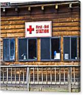 First Aid Station Canvas Print