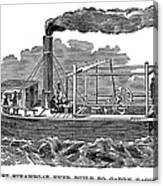 Fitchs Steamboat, C1790 Canvas Print