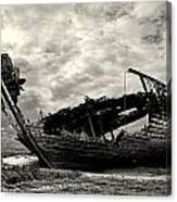 Fleetwood Marsh Wrecks Canvas Print