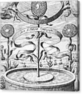 Flower Clock, 1643 Canvas Print