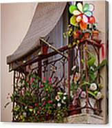 Flowery Balcony Canvas Print