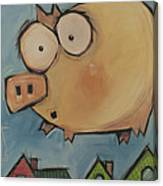 Flying Pig First Flight Canvas Print