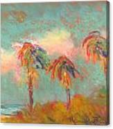 Folly Beach Wind Blown Canvas Print