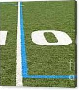 Football Field Ten Canvas Print