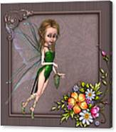 Forest Fairy In The Garden Canvas Print