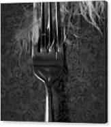 Fork And Feather Canvas Print