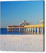 Fort Myers Beach Pier Canvas Print