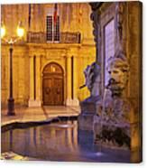 Fountain Aix-en-provence Canvas Print