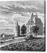 France: Wine Ch�teau, 1868 Canvas Print