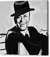 Frank In Black And White Canvas Print