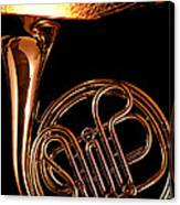 French Horn With Sparks Canvas Print