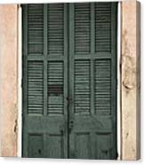 French Quarter Doors Canvas Print