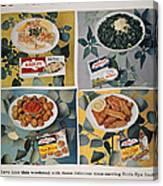 Frozen Food Ad, 1957 Canvas Print