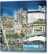 Genova Expo Area With Saint George Building Canvas Print