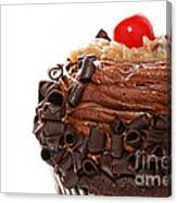 German Chocolate Cupcake 2 Canvas Print