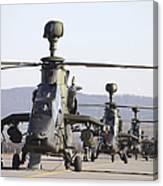German Tiger Eurocopters At Fritzlar Canvas Print