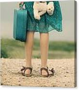 Girl In The Dunes Canvas Print
