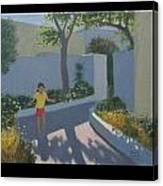 Girl Skipping Canvas Print