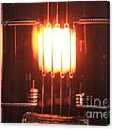 Glowing Filament 4 Of 4 Canvas Print
