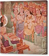 Gods Entertaining Mahavira Canvas Print