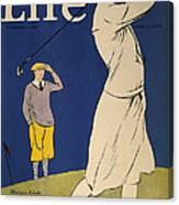 Golfing: Magazine Cover Canvas Print